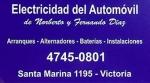 Electricidad del Automóvil en Victoria, San Fernando