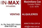 In-Max Inmuebles en Victoria, San Fernando